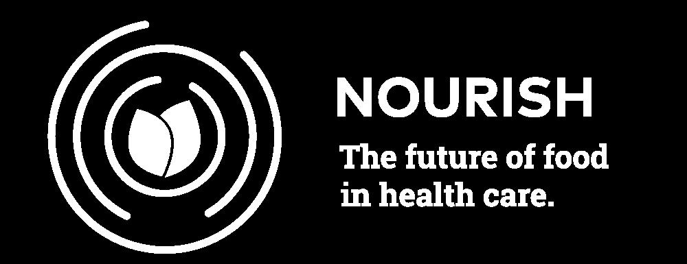 "Logo for Nourish healthcare, with ""the future of health care"" tagline"